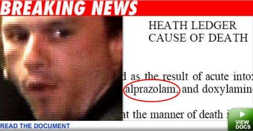 Heath Ledger halálának oka - orvosi jelentés.