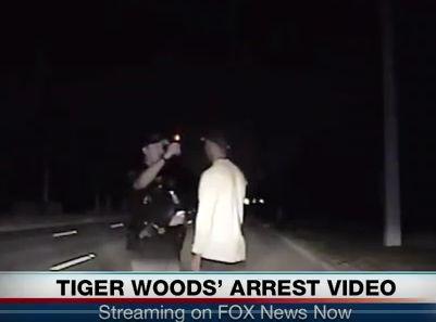 Tiger Woods rendőrségi videó